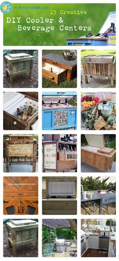 outdoor cooler, outdoor living, beverage center, patio, diy cooler, beverag center, diy projects, screened porches, creativ cooler