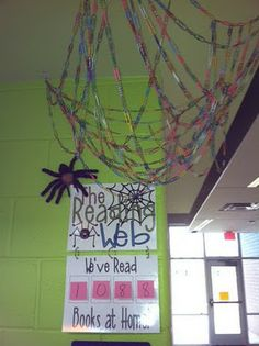 Each paperclip = 1 book read at home!