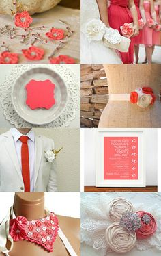 Coral Wedding Dreams @Etsy #wedding