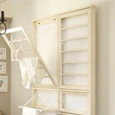 decor, idea, laundry drying rack, organ, laundry rooms, hous, laundri room, diy, dri rack