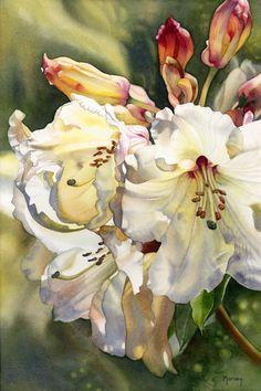 Marney Ward, Victoria BC watercolor artist, ward watercolor, watercolor paintings, watercolor flower art, marney ward, flowers in watercolor, watercolour artists, illustration art, floral