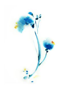 Watercolor Print of Original Watercolor Abstract by SophieRR, $10.00