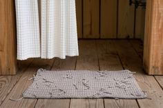 DIY ORGANIC COTTON BATH MAT