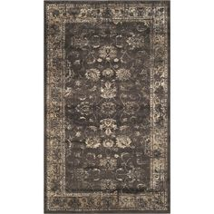 Add a pop of pattern to your living room or den with this eye-catching rug, showcasing a Persian-inspired motif in soft anthracite.
