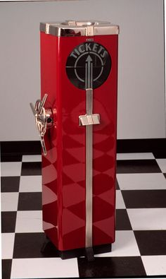 Ticket shredder from a theatre. This is a perfect example of how fashionable everything was in the deco era.