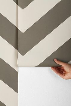 For the bathroom wall? Chevron Wallpaper --  Super easy to remove and reapply, so you can change it up!