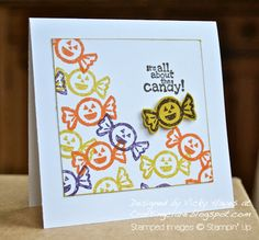 Halloween sweeties in three minutes - Stampin Up ideas and supplies from Vicky at Crafting Clares Paper Moments