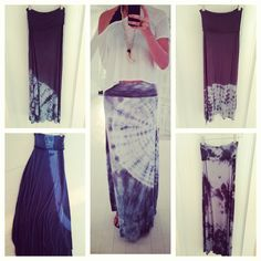 tie dye maxi skirts and dresses