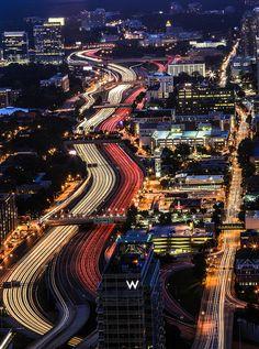 Atlanta, #Georgia sparkles at night.