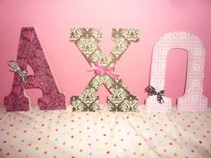 Alpha Chi Omega Letters with Bows