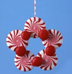 christmas ornament crafts | Funny Christmas Craft For Kids Peppermint Ornaments Christmas Craft ...
