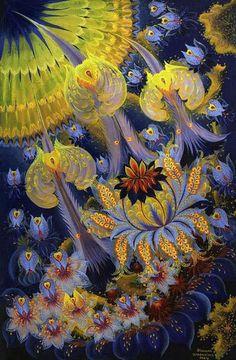 Olena Skytsiuk - Ukranian Petrykivka Paintings
