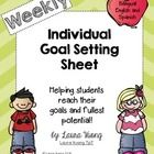 This is a weekly individual goal setting sheet. I use it to set individual goals with my students in reading, writing, math and even behavior. I ha...