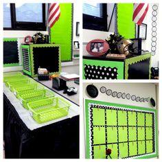 Teacher desk, Spotting Spectacular Work student display board