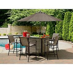 Garden Oasis -East Point 5 Pc. Bar Set  $399 Sears