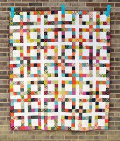 Great scrappy quilt idea