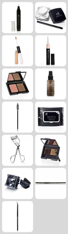 A little compilation of low cost alternatives to high-end products. The e.l.f. studio line has the BEST brushes you can find without spending tons of money (plus, you can find them at Target and K-mart!) The other make-up items are dupes of high end brands like: Nars, MAC, and Make Up For Ever. This is pretty much what I stock up on when I'm broke ;)