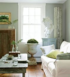 Simple and clean is the trend in this vintage-decorated here: http://www.bhg.com/decorating/decorating-style/flea-market/house-tour-natural-patina/?socsrc=bhgpin071914simpleandclean&page=1