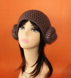 PDF Princess Leia Hat Crochet Pattern   This is awesome!