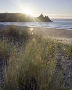 Three Cliffs Bay, Gower, South Wales by Rob Funffinger