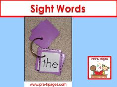 Ideas and activities for teaching sight words in pre-k or kindergarten.