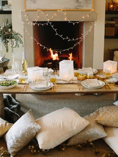 A Snowed-In Dinner Party by @Camille Blais Blais Styles | west elm