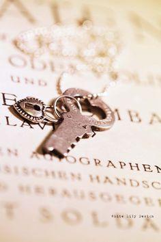 Heart Love Key Necklace