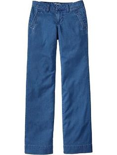 $19.00 Chambray Trousers Old Navy