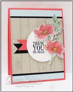 #weloveDS, #stampinup, Peaceful Petals, Lots of Thanks, Hardwood, Connie Babbert, www.inkspiredtreasures.com