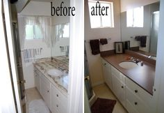 How to paint counter tops the right way.