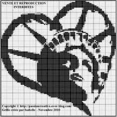 Grille gratuite point de croix : Statue de la Liberté coeur New York