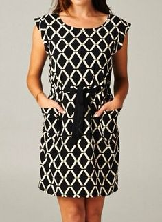 Diamond Pattern Black Dress - $39.99 : FashionCupcake, Designer Clothing, Accessories, and Gifts
