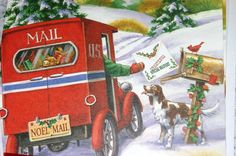 christmas cards, christma card, vintage christmas, vintag christma, christma mail, postal de, merri christma