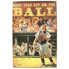 Keep Your Eye on the Ball Baseball Tin Sign   Shop Hobby Lobby