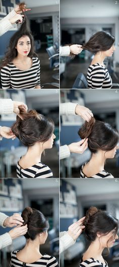 French twist - 17 Romantic Hairstyle Ideas and Tutorials