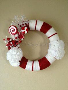 Cute candy cane wreath