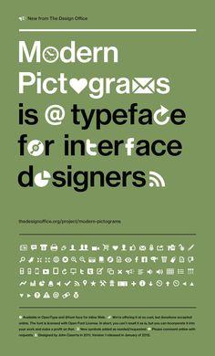 Free web font - Modern Pictograms Font