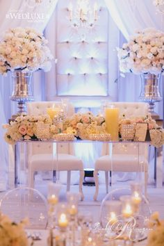 Head table at wedding. Wedding Decor Toronto Rachel A. Clingen Wedding & Event Design - Stylish wedding decor and flowers for Toronto
