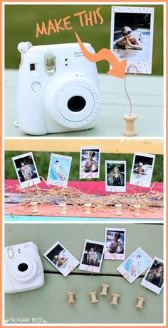DIY Mini Spool Picture Holder - create easy displays for precious photos