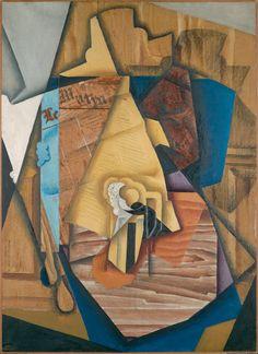 """Leonard A. Lauder cubista Collection en audio e imágenes - Función Multimedia - NYTimes.com """"FIGURA SENTADA EN UN CAFÉ (HOMBRE EN UNA TABLA)"""" Juan Gris, 1914 Gris tomaron el cubismo analítico de Picasso y Braque y la convirtieron en un estilo propio."""