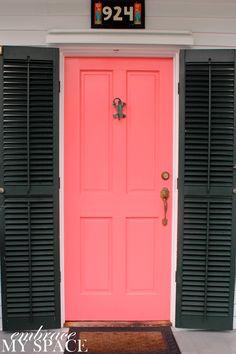 Embrace My Space:  Key West Front Doors #pink front door