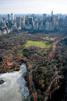 parks, jeanneclaud, jeann claud, new york city, gates, central park, christo, land art, york citi
