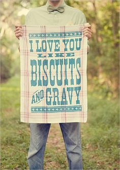southern food, tea towels, wedding ideas, country weddings, kitchen towels