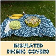 Insulated picnic covers tutorial @onthecutfloor #sewing
