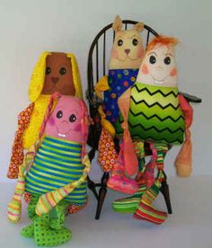 Scribbles - charity doll sewing pattern