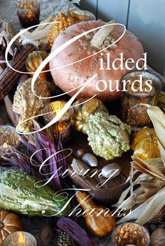 Gilded Gourds from Home is Where the Boat Is #Thanksgiving #MichaelsStores