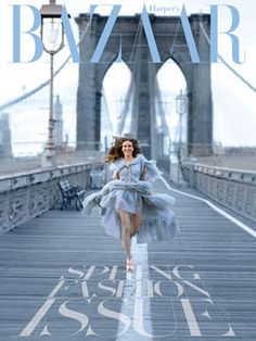 Harper's Bazaar Covers and Photos - The Best of Harper's Bazaar Book - Harper's BAZAAR.    Sarah Jessica Parker in Chanel, photographed for the March 2009 issue by Peter Lindberg, styled by Mary Alice Stephenson.
