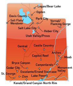 map of utah campgrounds
