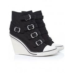Women's Ash Thelma Canvas Wedge Trainers