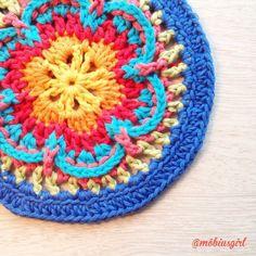 #Crochet mandala from mobiusgirl